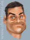 Cartoon: Robbie Williams (small) by KryCha tagged robbie,williams,take,that,popstar