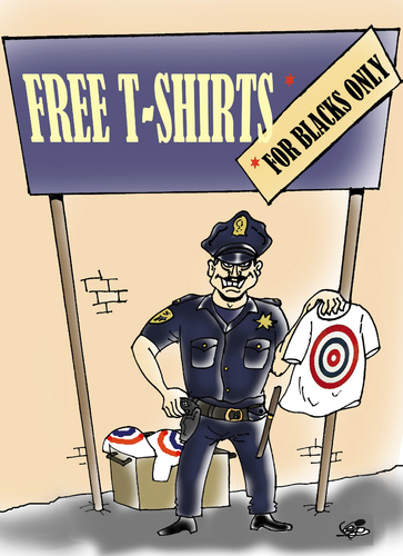 Cartoon: POLICE RACISM USA... (medium) by Vejo tagged injustice,blacks,killings,america,police,racism