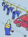 Cartoon: OPEL BELGIUM (small) by Vejo tagged opel,belgium,factory,firing