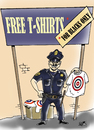 Cartoon: POLICE RACISM USA... (small) by Vejo tagged racism,police,america,killings,blacks,injustice