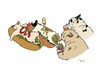 Cartoon: HOTDOGS (small) by motoko tagged hund,dog,hotdogs,junkfood
