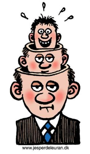 Cartoon: Head in head in head (medium) by deleuran tagged heads,board,of,direction,management,,head,in