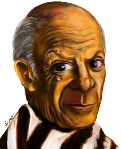 Cartoon: picasso (medium) by faruksoyarat tagged picasso
