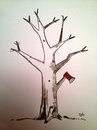 Cartoon: Tree (small) by Raoui tagged tree,axe