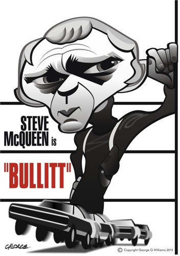 Cartoon: Bullitt (medium) by spot_on_george tagged steve,mcqueen,caricature,bullitt