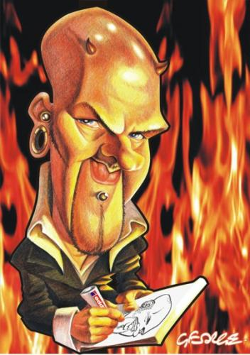 Cartoon: Devil in Me (medium) by spot_on_george tagged george,williams,caricature,portrait