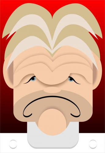 Cartoon: Gordon Ramsey caricature (medium) by spot_on_george tagged word,gordon,ramsey,caricature