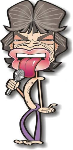 Cartoon: Mick Jagger (medium) by spot_on_george tagged mick,jagger,caricature