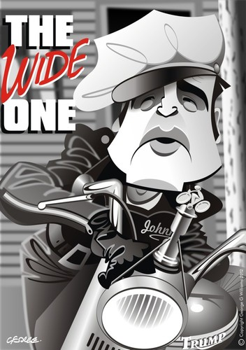 Cartoon: Wild One (medium) by spot_on_george tagged marlon,brando,the,wild,one