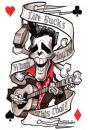 Cartoon: Elvis skeleton (small) by spot_on_george tagged elvis,presley,skeleton,caricature