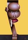 Cartoon: Grace Jones (small) by spot_on_george tagged grace,jones,caricature,vector,digital