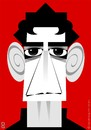 Cartoon: Lou Reed RIP (small) by spot_on_george tagged lou,reed,caricature