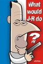 Cartoon: WWJRD? (small) by spot_on_george tagged jean,reno,caricature