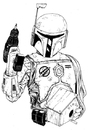Cartoon: boba fett (small) by chrisse kunst tagged star,wars,boba,fett,handwerk