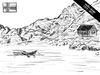 Cartoon: idyllic image (small) by elke lichtmann tagged norway,fjord,terror,attack,idyllic,grief,image
