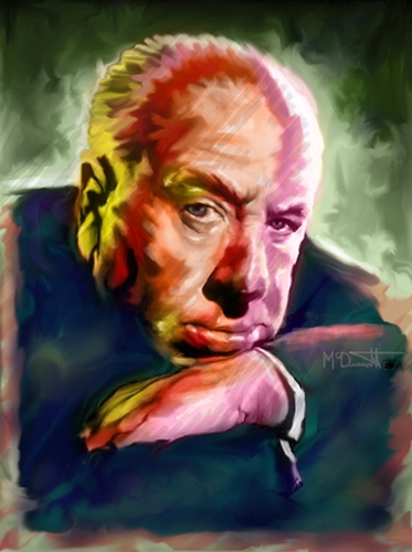 Cartoon: Portrait of Alfred Hitchcock (medium) by McDermott tagged alfredhitchcock,movies,horror,suspence,tv,mcdermott