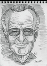 Cartoon: Sketch of Stan Lee (small) by McDermott tagged sketch stanlee comics comicbooks marvel caricature spiderman