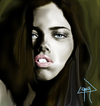 Cartoon: adriana lima (small) by ressamgitarist tagged drawing,portrait,photoshop