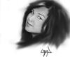 Cartoon: gizem (small) by ressamgitarist tagged drawing,portrait,photoshop