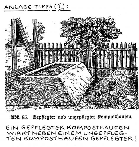 Cartoon: Anlage-Tipp (medium) by Kriki tagged anlage,komposthaufen,