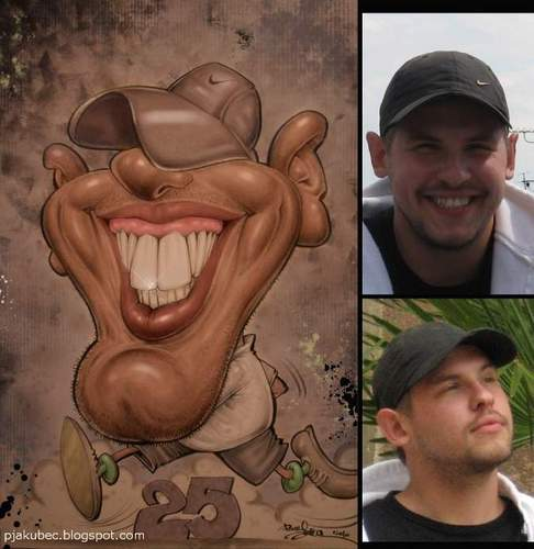 Cartoon: Portrait caricature for gift (medium) by toon tagged portrait,photo