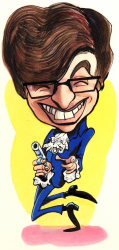 Cartoon: Austin Powers (medium) by Jedpas tagged caricature,fun,austin,powers,jed,pascoe