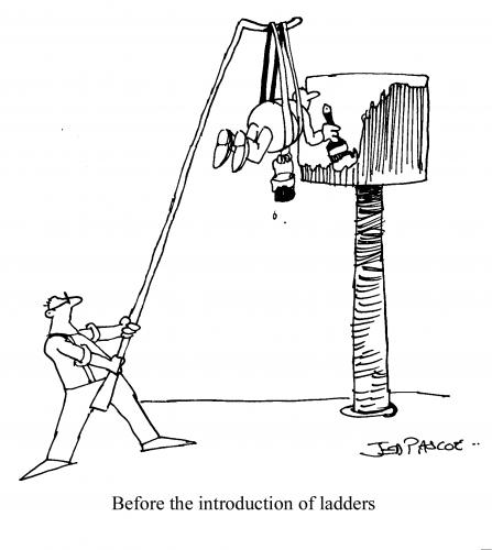 Cartoon: Before ladders (medium) by Jedpas tagged cartoon,funny,technology
