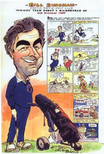 Cartoon: Bill Bingham (medium) by Jedpas tagged caricature,golf,powakaddy,water,comic,graphic,novel,cartoon,funny