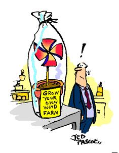 Cartoon: Grow your own windfarm (medium) by Jedpas tagged eco,wind,farm,cartoon,funny,global,warming