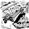 Cartoon: Welsh Labour and the Tory Bus (small) by Jedpas tagged wales,welsh,labour,tory,plaid,cymru,rhodri,morgan,politics