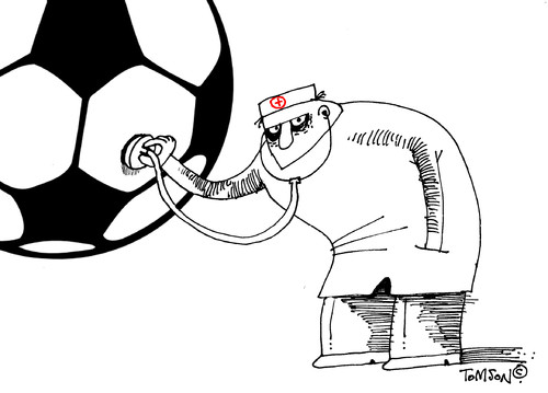 Cartoon: FIFA troubles (medium) by to1mson tagged fifa,problemy,troubles,fussball,football,pilka,nozna