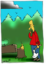 Cartoon: ... (small) by to1mson tagged tree,baum,drzewo,people,menschen,ludzie,mann,sapiens,czlowiek