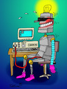 Cartoon: ... (small) by to1mson tagged robot,roboter,technika,technik