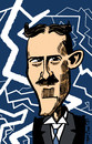 Cartoon: Nicola Tesla (small) by to1mson tagged nicola,tesla