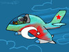 Cartoon: Turkey contra Russia (small) by to1mson tagged turkey,russia,su,24,war,conflict,syrien,border,grenze,flugzeug