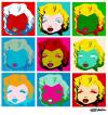 Cartoon: Marilyn Monroe Pop Art (small) by manohead tagged caricatura,caricature,manohead