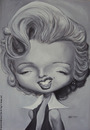 Cartoon: monroe oil (small) by manohead tagged caricatura,caricature,manohead
