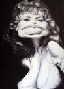 Cartoon: Sophia Loren (small) by manohead tagged caricatura,manohead,caricature