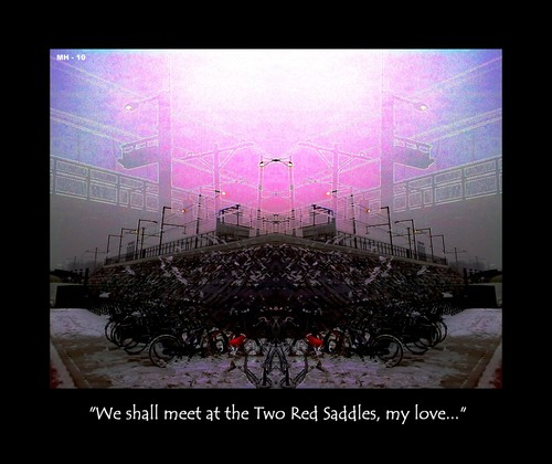 Cartoon: Meet at the Two Red Saddles (medium) by MoArt Rotterdam tagged secretlove,meeting,rendezvous,tworedsaddles