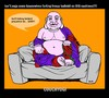 Cartoon: CouchYogi Farting Frenzy (small) by MoArt Rotterdam tagged couchyogi,couchyoga,yoga,whatisyoga,fartingfrenzy,bullshit,bigcushion,housewife,hide,hidingbehind,prejudice,easy