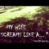 Cartoon: MH - My wife screams like a... (small) by MoArt Rotterdam tagged google,googlehits,wife,husband,married,marriage,maritalissues,scream,mywifescreams,manandwife