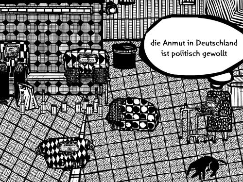 Cartoon: armutsbericht (medium) by bob schroeder tagged armutsbericht,armut,sozial