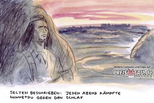 Cartoon: Winnetou (medium) by preissaude tagged winnetou,held,schlaf