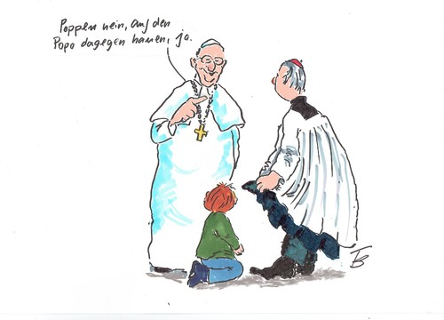 Cartoon: Franziskus (medium) by Skowronek tagged kirche,papst,kindesmissbrauch