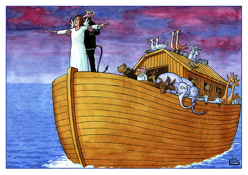 Cartoon: Titanic (medium) by Makhmud Eshonkulov tagged titanic,global,warming