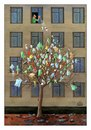 Cartoon: Tree in the City (small) by Makhmud Eshonkulov tagged tree,city,nature