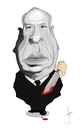 Cartoon: Alfred Hitchcock (small) by Paulista tagged caricature alfred hitchcock