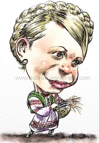 Cartoon: Yulia Timoshenko (medium) by Bob Row tagged timoshenko,ukraine,politics,russia,crimea