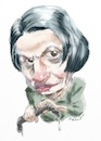 Cartoon: Ayn_Rand (small) by Bob Row tagged ayn,rand,capitalism,meritocracy,neoliberalism,atlas