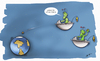 Cartoon: 2012 DA14 (small) by subbird tagged asteroid,aliens,erde